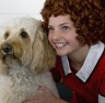 """Photo by Tracy Martin Maya Donato, right, with Scooter, ready to star in """"Annie"""" for Broadway by the Bay."""
